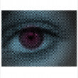 Stock Vector: Eye Halftone Dots
