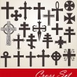 Stok Vektör: Cross set