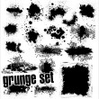 Grunge Set — Stock Vector