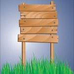 Wooden sign — Stock Vector