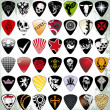 Guitar pick set — Stockvektor