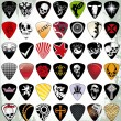 Guitar pick set — Stockvectorbeeld