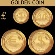 Golden Coin — Stockvektor #6037797