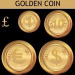 Golden Coin — Stock Vector