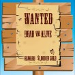 Wanted on old paper background — Stock Vector