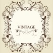 Frame Vintage Old Ornament — Stock Vector #6038502