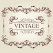 Stock Vector: Frame Vintage Old Ornament