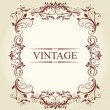 Frame Vintage Old Ornament - Stock Vector
