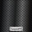 Perforated metal background — Stock Vector #6038886