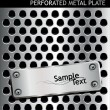 Perforated metal background - Stockvectorbeeld