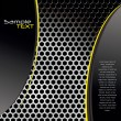 Perforated metal background - 图库矢量图片