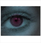 Eye Halftone Dots — Stock Vector