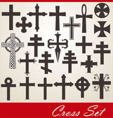 Cross set — Stok Vektör