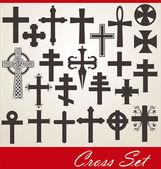 Krzyż zestaw — Wektor stockowy