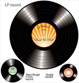 Lp Vinyl Records — Stock Vector