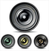 Camera Lens - set — Stock Vector