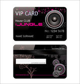 Elegant vip music club card — Stock Vector