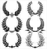 Laurel wreaths Set — Stock Vector