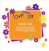 Love Peace Joy Illustration — Stock Vector