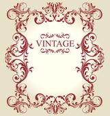 Ornamento antigo vintage de quadro — Vetor de Stock