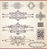 Calligraphic design set — Stock Vector