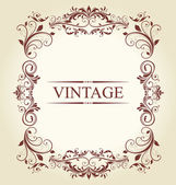 Frame Vintage Old Ornament — Stock Vector