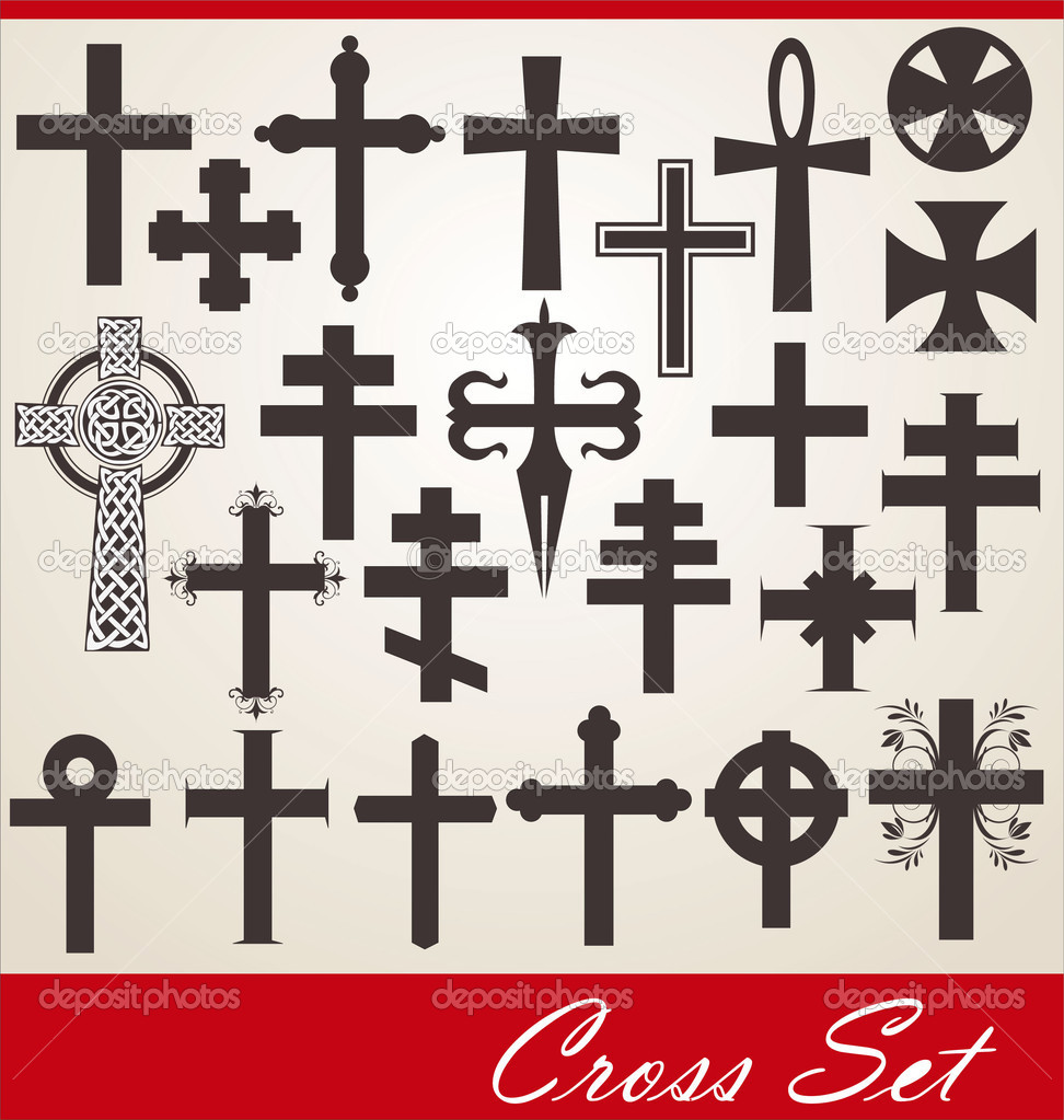 Cross set — Stock Vector #6034046