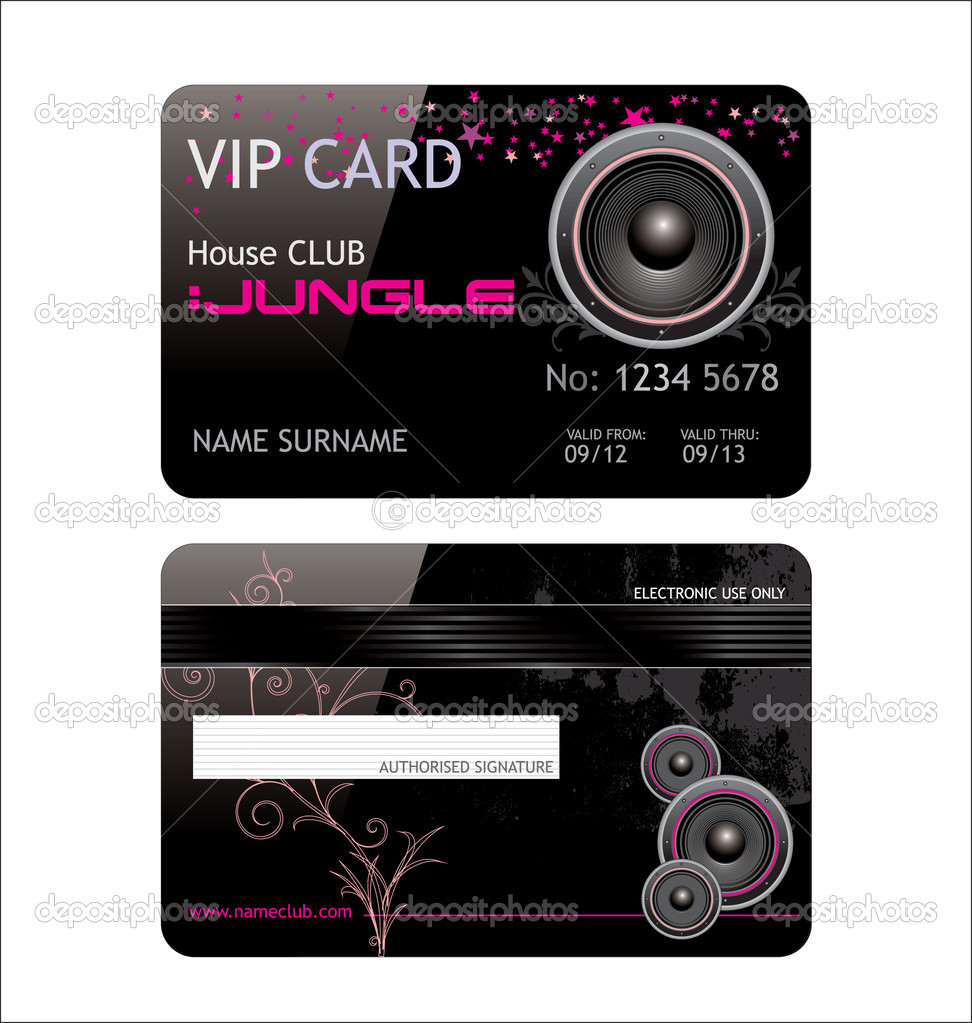 Elegant vip music club card — Stock Vector #6037622