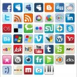 Social Bookmarks icons -  Final Set - Stockvectorbeeld