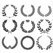 Set Of Laurel Wreaths — ストックベクタ