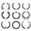 Set Of Laurel Wreaths - Stockvectorbeeld