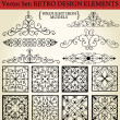 Stock Vector: Wrought iron - Retro Design Elements