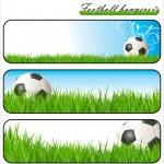 Football Banners — Stock Vector