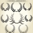 Set Of Laurel Wreaths — Stok Vektör #6043989