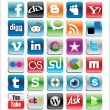 Social Bookmarks Icons - Vektorgrafik