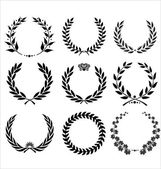 Set Of Laurel Wreaths — Stok Vektör