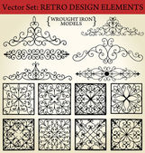 Wrought iron - Retro Design Elements — Stock Vector