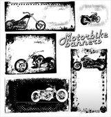 Motorbike Grunge Banners — Stock Vector