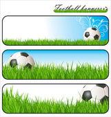 Bandeiras de futebol — Vetor de Stock