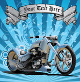 Super Bike In Grunge Background — Stockvektor