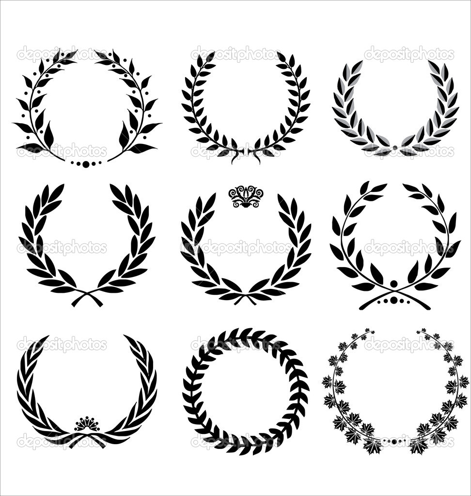 Set Of Laurel Wreaths  — Stock Vector #6042537