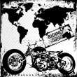 Riding Around The World — Stock Vector