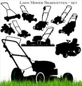 Lawn mower set — Vettoriale Stock