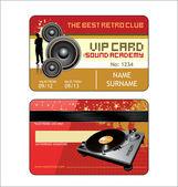 Karta klubu Vip dom — Wektor stockowy