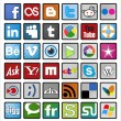 Most used social networks and programs - Stock Vector