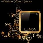 Golden Frame — Stock Vector