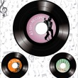 Retro 45 rpm platenlabels — Stockvector