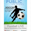 Public viewing soccer tournament banner — Stock Vector #6122921
