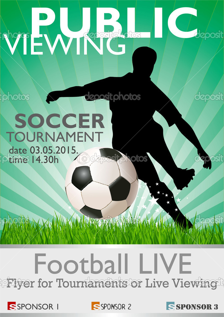 Depositphotos Public Viewing Soccer Tournament Banner Poster