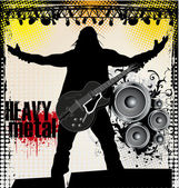 Heavy metal background — Stock Vector